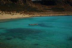 格拉姆武萨群岛海岛-小船 库存照片