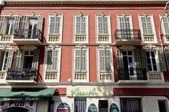 格拉斯典型的建筑学在南法国 库存照片
