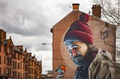格拉斯哥人市壁画有鸟的 库存照片