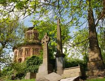 格拉斯哥大墓地墓碑和陵墓 免版税库存照片