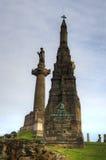 格拉斯哥大墓地,维多利亚女王时代的哥特式公墓,苏格兰,英国 库存照片