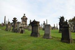 格拉斯哥大墓地,维多利亚女王时代的哥特式公墓,苏格兰,英国 免版税库存照片