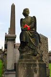 格拉斯哥大墓地,维多利亚女王时代的哥特式公墓,苏格兰,英国 图库摄影