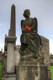 格拉斯哥大墓地,维多利亚女王时代的哥特式公墓,苏格兰,英国 免版税图库摄影