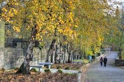 格拉斯哥大墓地,维多利亚女王时代的哥特式公墓,苏格兰,英国 免版税库存图片