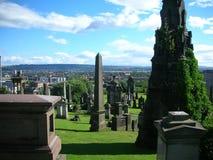 格拉斯哥大墓地 免版税库存图片