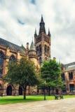 格拉斯哥大学` s钟楼 免版税库存图片