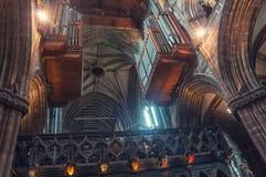 格拉斯哥大教堂内部 库存照片