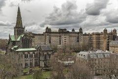 格拉斯哥大教堂和维多利亚医疗所 免版税库存图片