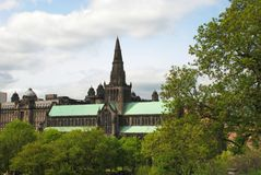 格拉斯哥大教堂在苏格兰,英国 图库摄影