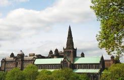 格拉斯哥大教堂在苏格兰,英国 免版税库存照片