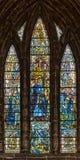 格拉斯哥大教堂污迹玻璃窗 免版税库存图片