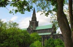 格拉斯哥大教堂遥远的看法在苏格兰 库存照片
