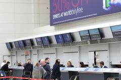 格拉斯哥机场报到 免版税库存照片