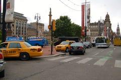 格拉斯哥被变换成为世界大战设置的影片Z 免版税库存照片