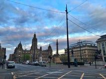 格拉斯哥,苏格兰乔治广场  免版税库存图片