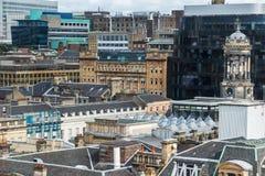 格拉斯哥,苏格兰鸟瞰图  免版税库存照片