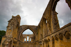 格拉斯顿伯里修道院是一个修道院从7世纪在Glastonbur 库存照片