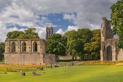 格拉斯顿伯里修道院,萨默塞特,英国废墟  图库摄影