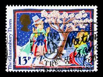 格拉斯顿伯里刺,圣诞节1986年-民间风俗serie,大约1986年 免版税库存图片