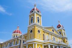格拉纳达大教堂在尼加拉瓜 库存图片