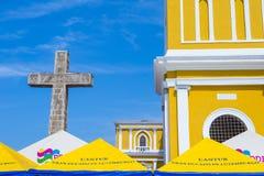 格拉纳达大教堂在尼加拉瓜 免版税库存图片
