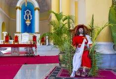 格拉纳达大教堂在尼加拉瓜 免版税库存照片