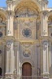 格拉纳达大教堂门面 免版税图库摄影