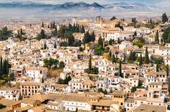 格拉纳达视图安达卢西亚,西班牙 库存照片