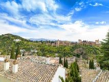 格拉纳达,安大路西亚,西班牙阿尔罕布拉宫宫殿  2015年4月 免版税图库摄影