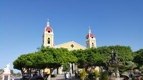 格拉纳达,尼加拉瓜教会  免版税库存照片