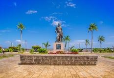 格拉纳达,尼加拉瓜, 2018年5月, 14日:雕象纪念的弗朗西斯科Hern ndez de C rdoba,相信的西班牙conquistor 免版税库存图片
