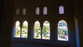 格拉纳达,格拉纳达,西班牙看法从阿尔罕布拉宫殿的 库存照片