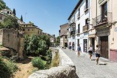格拉纳达,西班牙老城镇 免版税库存图片
