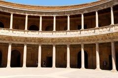 查尔斯宫殿v在阿尔罕布拉宫,格拉纳达,西班牙 免版税库存图片