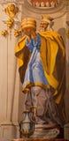 格拉纳达-在巴洛克式的圣所(密室Sanctorum)的高教士Melchizedek壁画在教会莫纳斯特里奥de la Cartuja b里 免版税库存图片