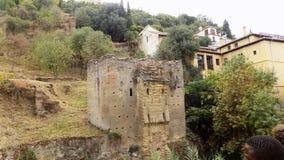 格拉纳达-老建筑学albayzin-其余  免版税库存照片