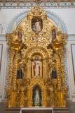 格拉纳达-耶稣的心脏巴洛克式的旁边法坛在从17的Iglesia de圣安东教会里 分 由未知的艺术家 库存照片