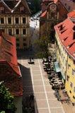 格拉茨屋顶 免版税库存照片