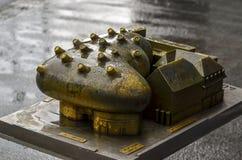 格拉茨美术馆- Kunsthaus格拉茨-式样看法 库存图片