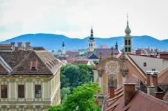 格拉茨-奥地利的鸟瞰图 免版税库存照片
