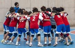 格拉诺列尔斯杯子2013年。韩国队 免版税图库摄影