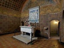 格拉达拉城堡,意大利内部  图库摄影
