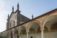 格拉齐亚圣所在mincio的 库存照片