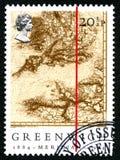 格林威治子午英国邮票 库存照片