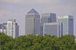 从格林威治的伦敦港区 免版税图库摄影