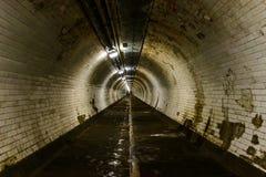 格林威治脚隧道在伦敦 库存照片