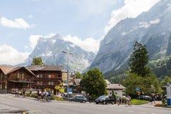 格林德瓦,瑞士 库存图片