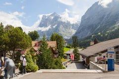格林德瓦,瑞士 库存照片