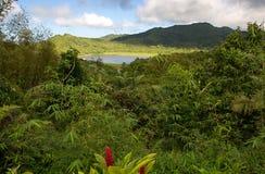 格林纳达海岛-盛大Etang湖 免版税库存图片